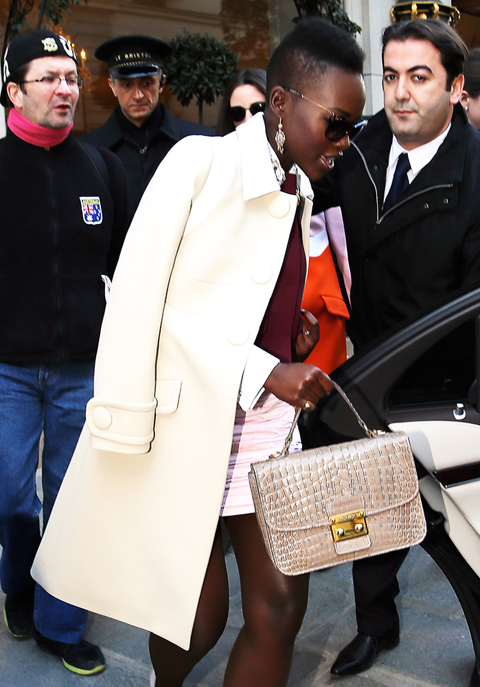 Lupita-Nyongo-Miu-Miu-Croc-Embossed-Top-Handle-Bag