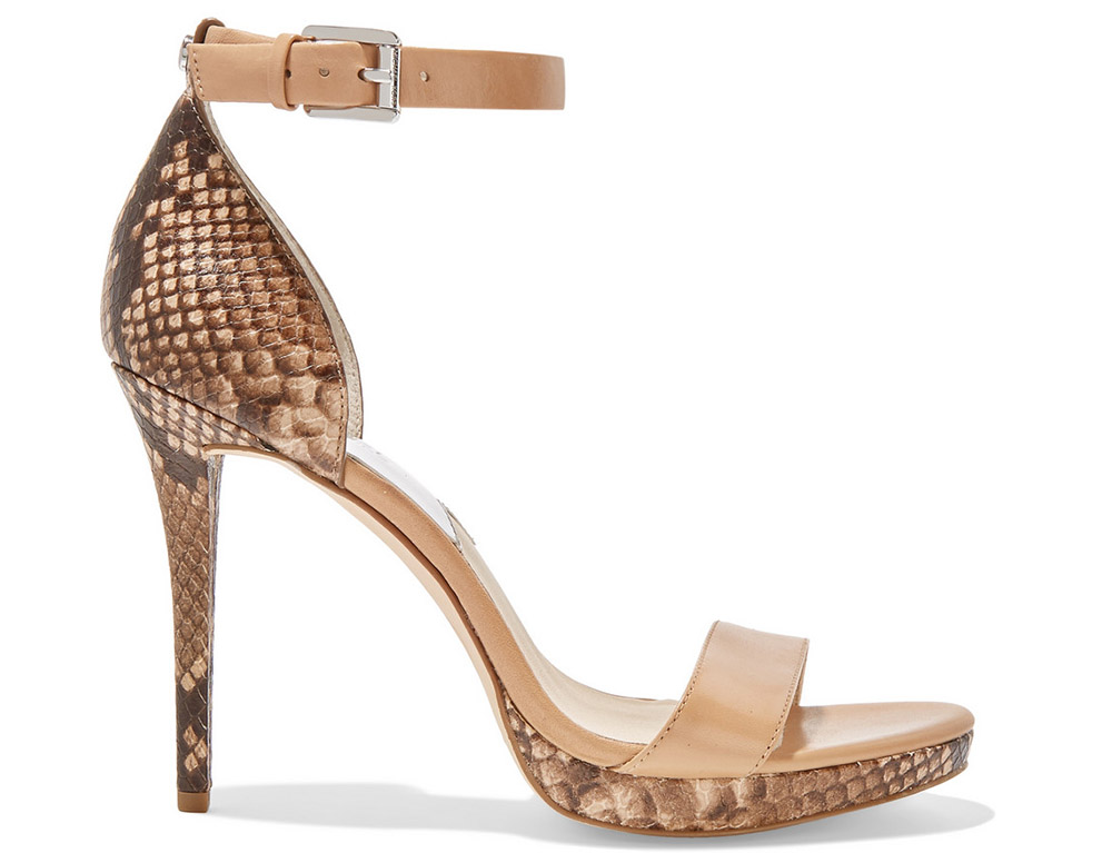 MICHAEL Michael Kors Sienna Snake-Effect Leather Sandals