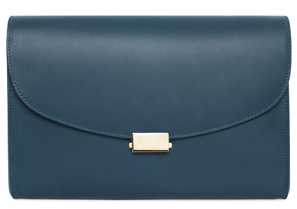 Mansur-Gavriel-Flat-Clutch-Blu-Leather