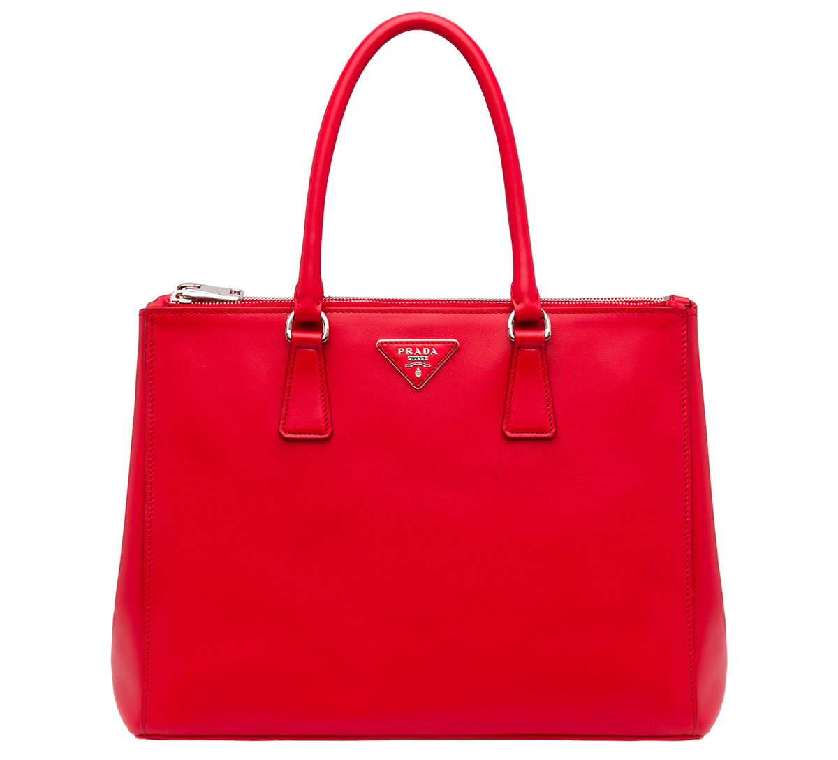 Prada Galleria Bag Laquer Red