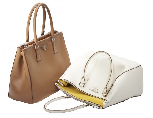 ... france prada galleria bags tan and white 9acb0 16809 hot prada mustard  brown vintage leather shoulder bag ... 082fa8aabf