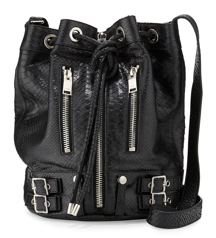 Saint-Laurent-Python-Rider-Bucket-Bag