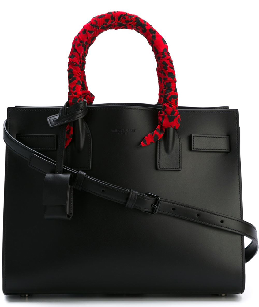 Saint-Laurent-Sac-de-Jour-Baby-Wrapped-Handles-Red