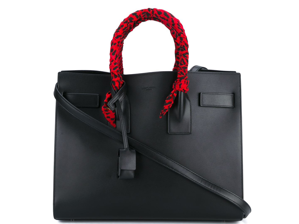 Saint-Laurent-Small-Sac-de-Jour-Wrapped-Handles-Red