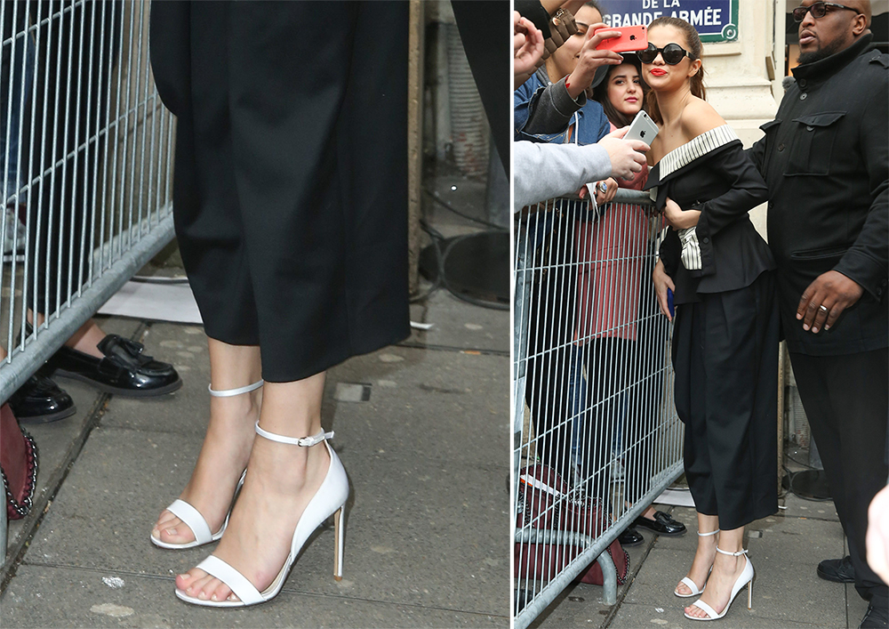 Selena-Gomez-Francesco-Russo-Leather-Sandals