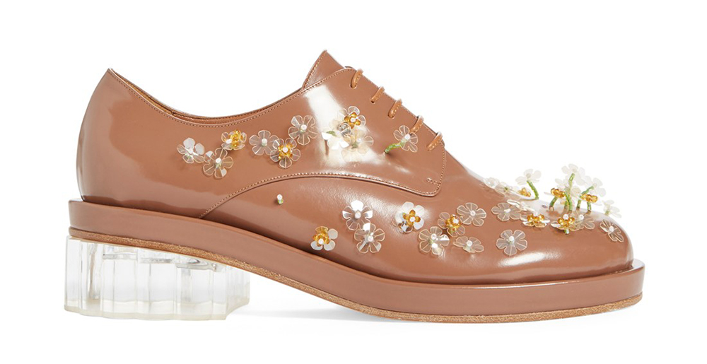 Simone Rocha Embellished Lace-Up Oxford