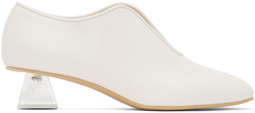 Stella McCartney White Perspex Heeled Open Loafers