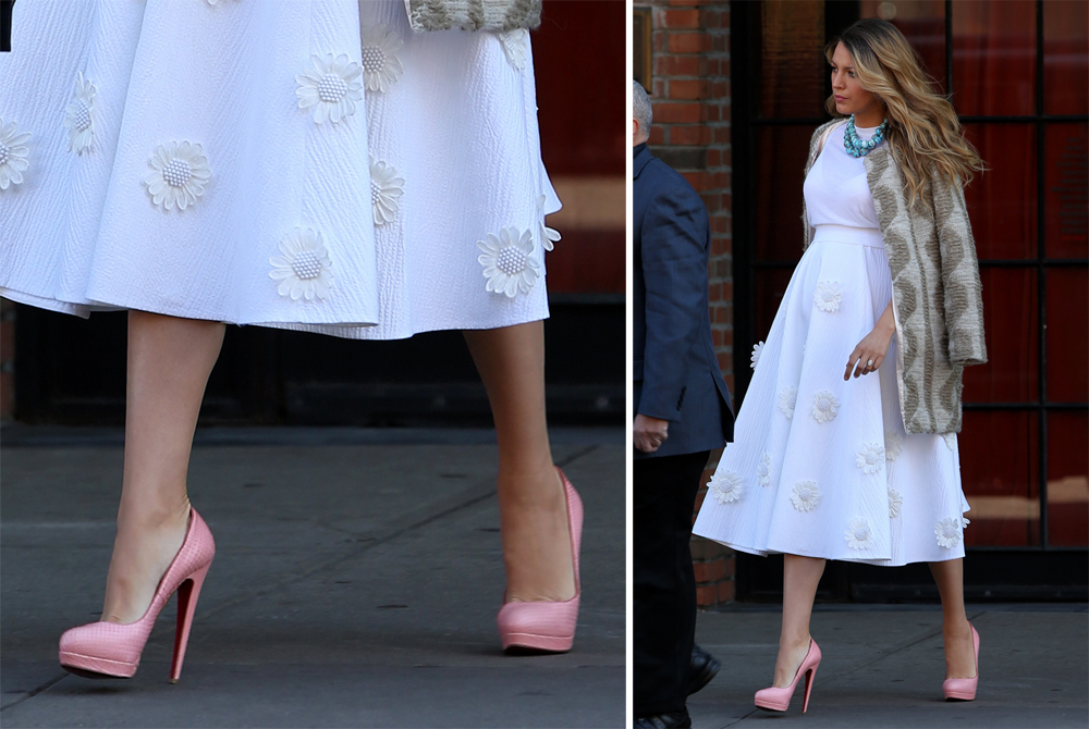 8b8c16f53532 No One is as Dedicated to Christian Louboutin Pumps as Blake Lively ...