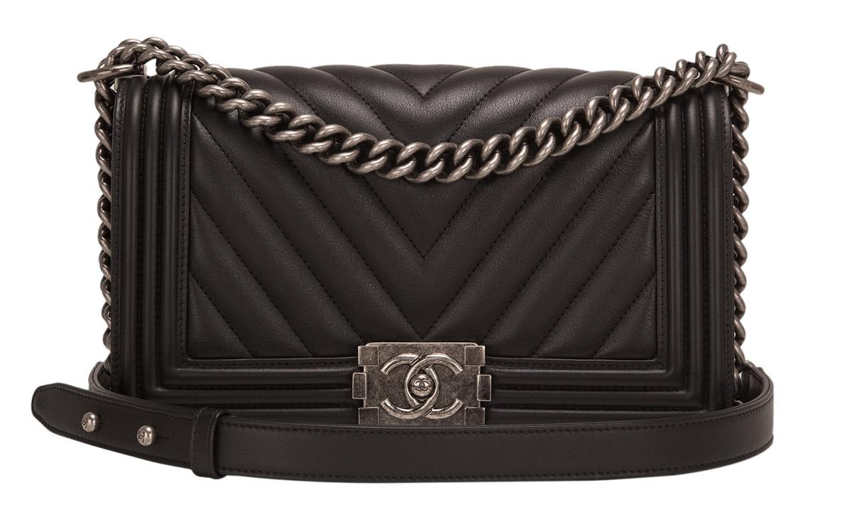 Chanel Chevron Boy Bag Portero