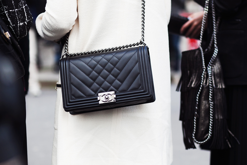 Chanel Chevron Quilted Boy Bag