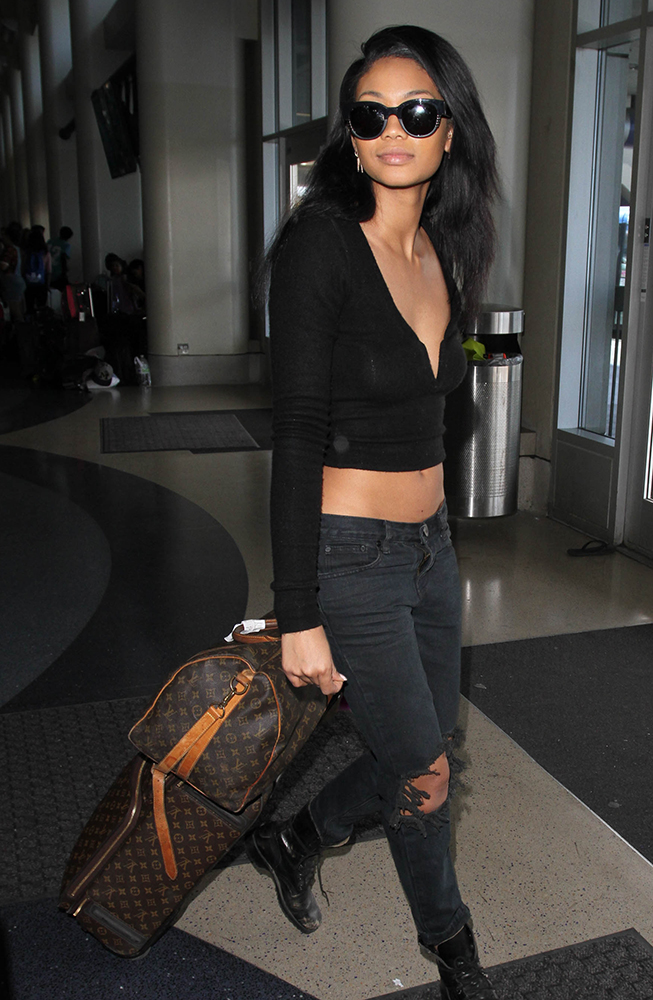 Chanel-Iman-Louis-Vuitton-Keepall-Louis-Vuitton-Pegase-Suitcase