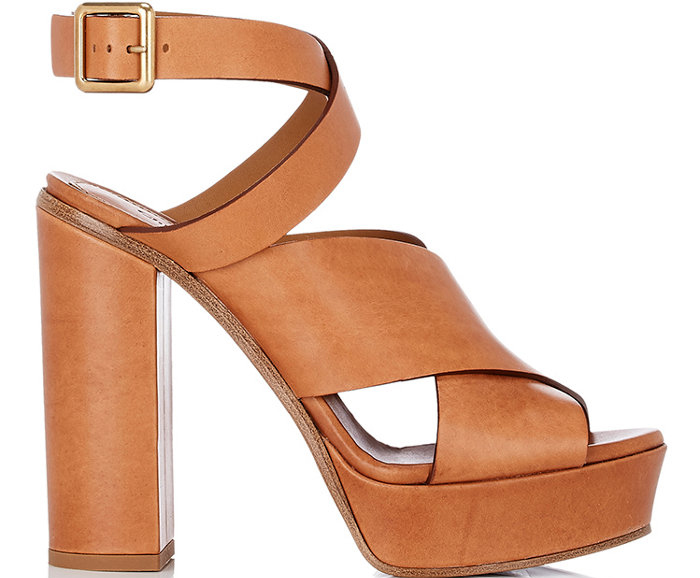 Chloe Crisscross-Strap Platform Sandals