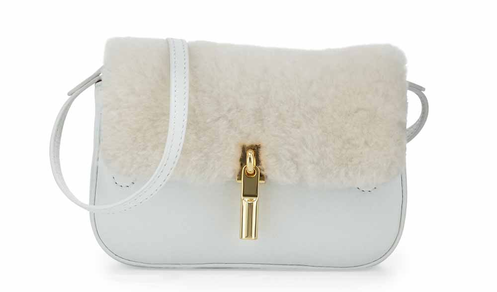 Elizabeth and James Cynnie Nano Shearling Crossbody Fur Bag