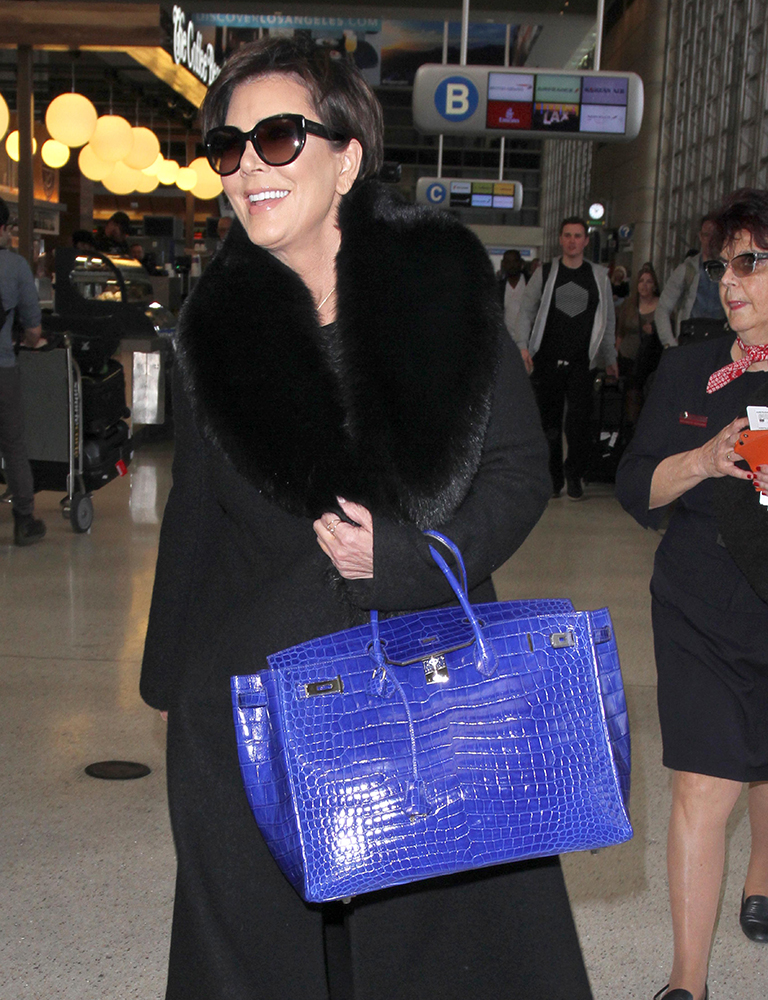 Kris-Jenner-Hermes-Shiny-Electric-Blue-Crocodile-Birkin