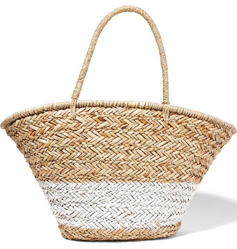 La-Ligne-Painted-Woven-Straw-Tote