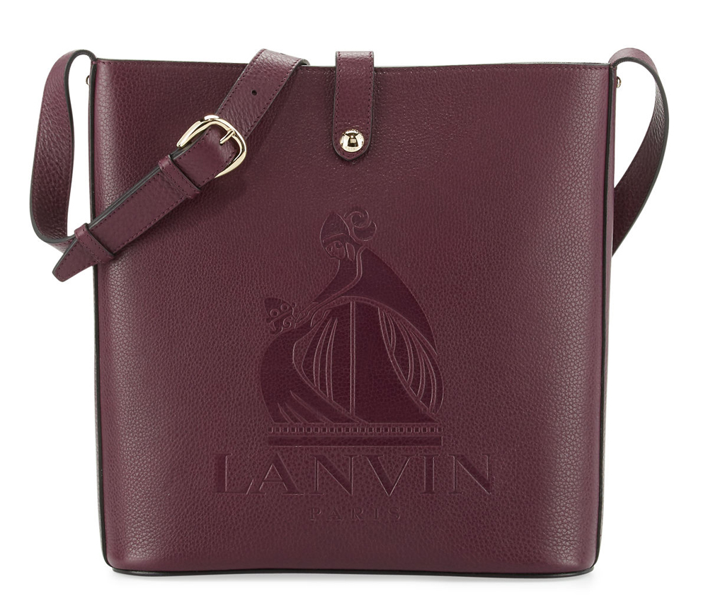 Lanvin-Logo-Embossed-Shoulder-Bag