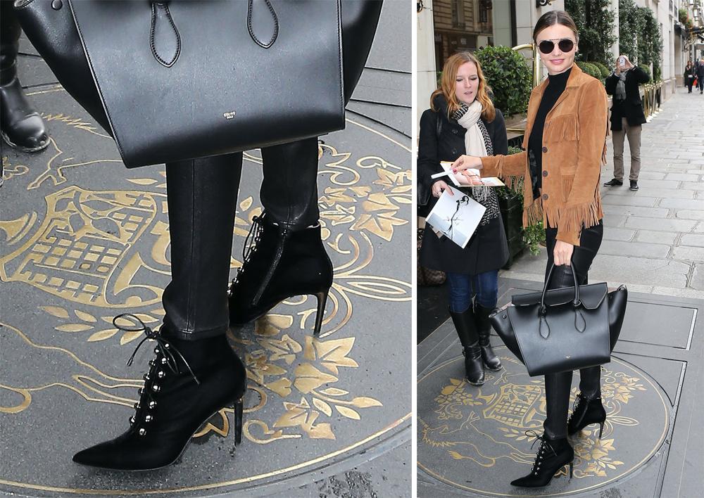 Miranda-Kerr-Balenciaga-Velvet-Ankle-Boots