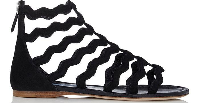 Prada Wavy-Strap Gladiator Sandals