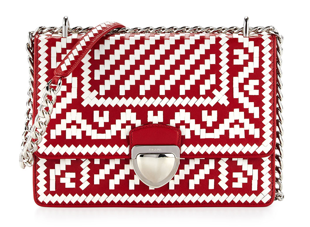 Prada-Woven-Madra-Shoulder-Bag