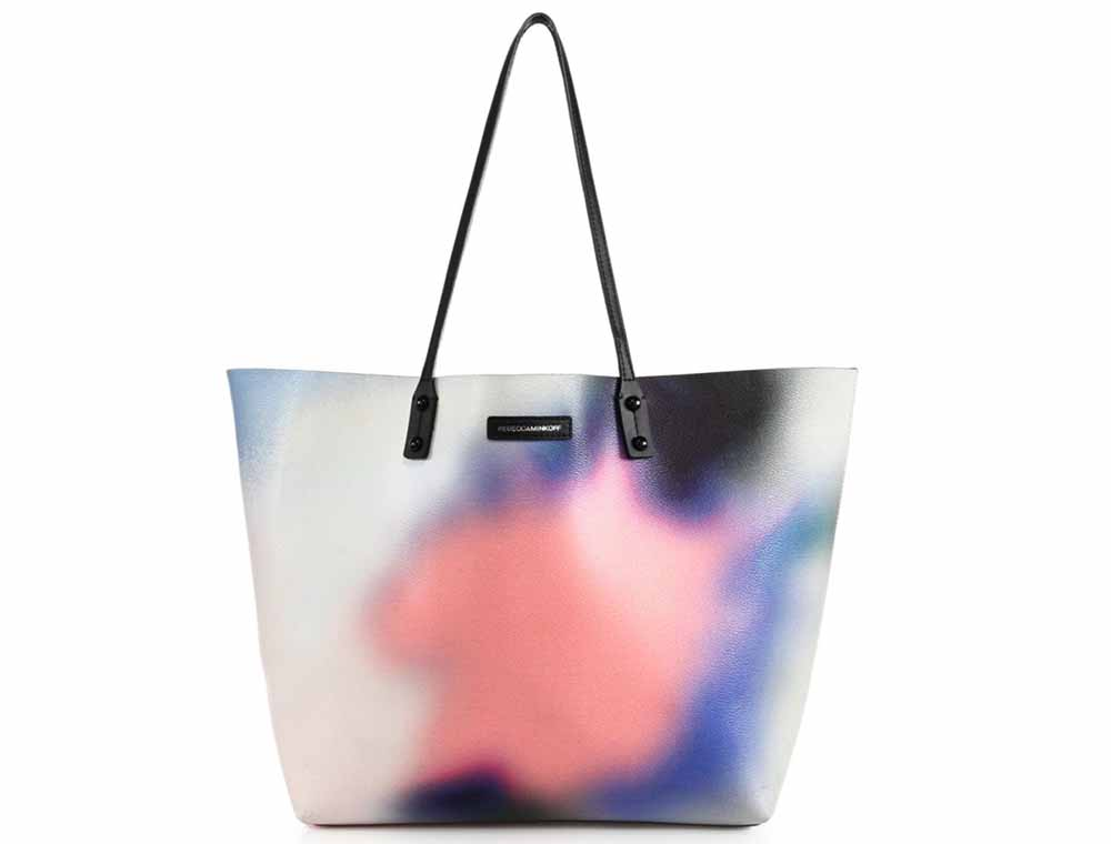 Rebecca Minkoff Anytime Graffiti-Print Faux Leather Tote