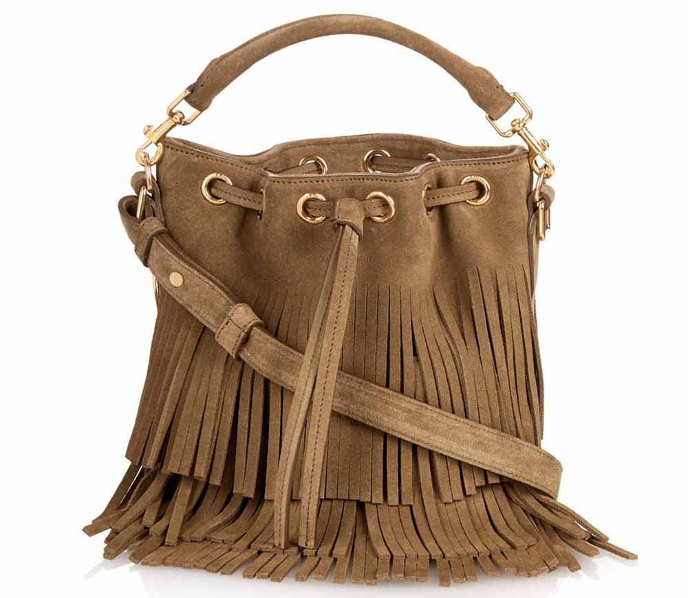 Saint Laurent Emmanuelle Small Fringed-Suede Cross-Body Bag