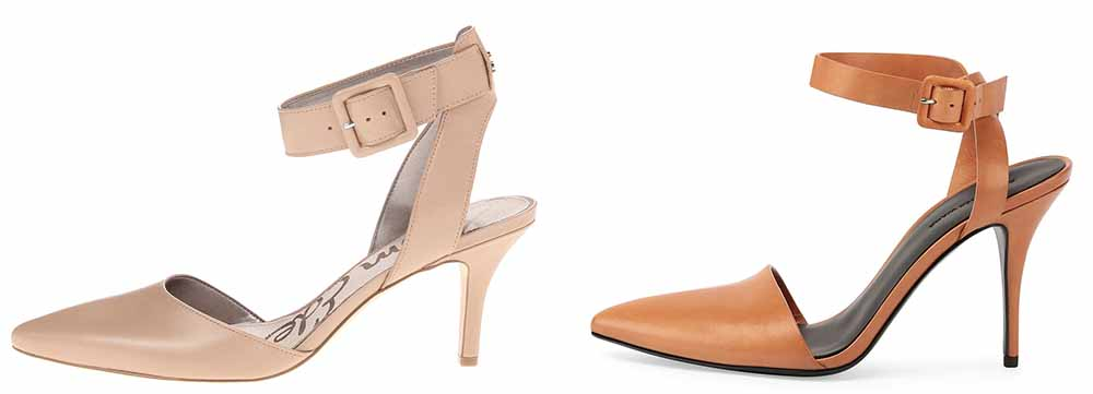 Sam Edelman Okala Pumps $110 via Zappos  Alexander Wang Lovisa Leather Pointed-Toe Pump $495 via Bergdorf Goodman