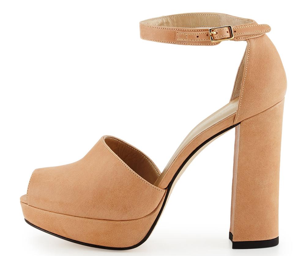 Stuart Weitzman Valleygirl Leather Platform Sandal