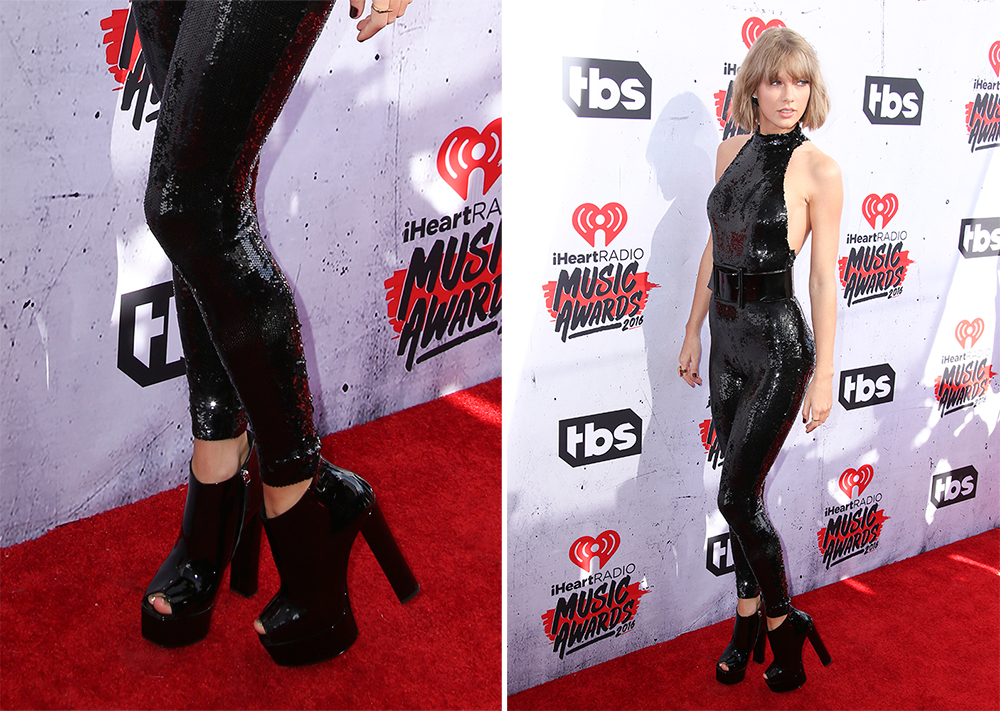 044fe90d0c75 Taylor Swift's Been Having a Love Affair With Chunky-Heeled Shoes ...