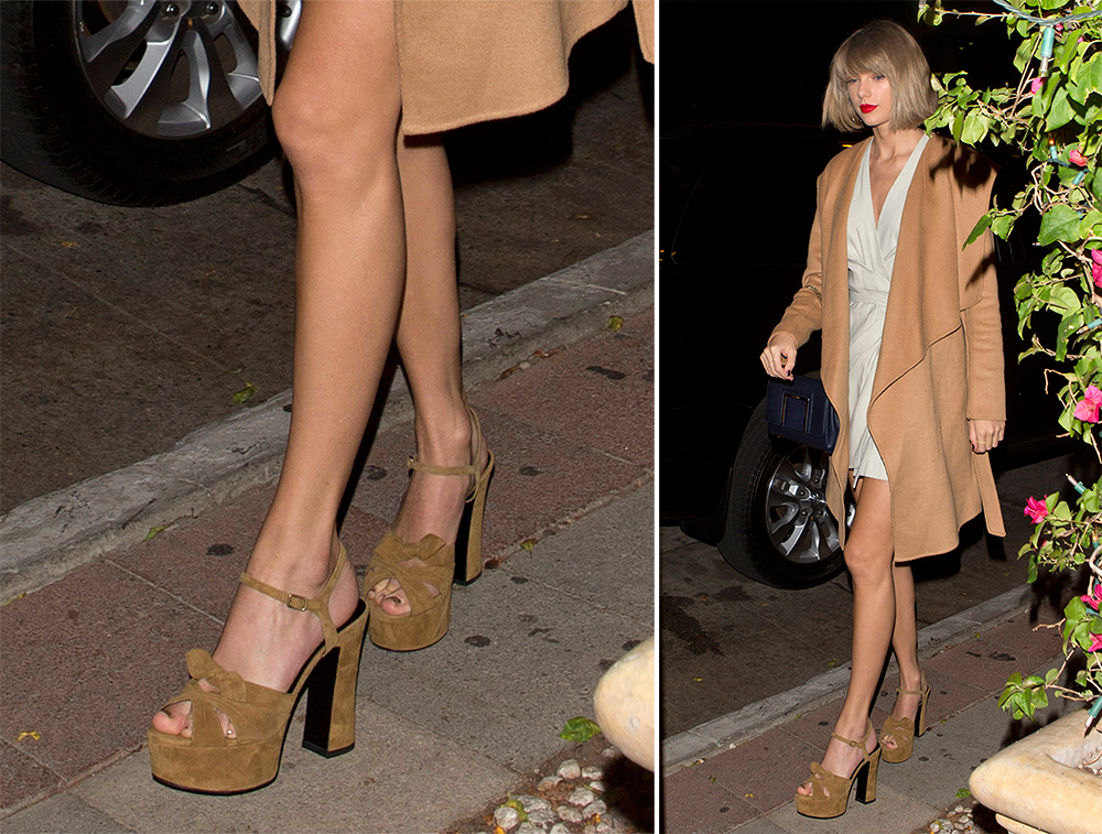 a318a65ad7f Taylor Swift s Been Having a Love Affair With Chunky-Heeled Shoes ...