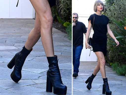 Taylor Swift's Been Having a Love Affair With Chunky-Heeled Shoes Lately