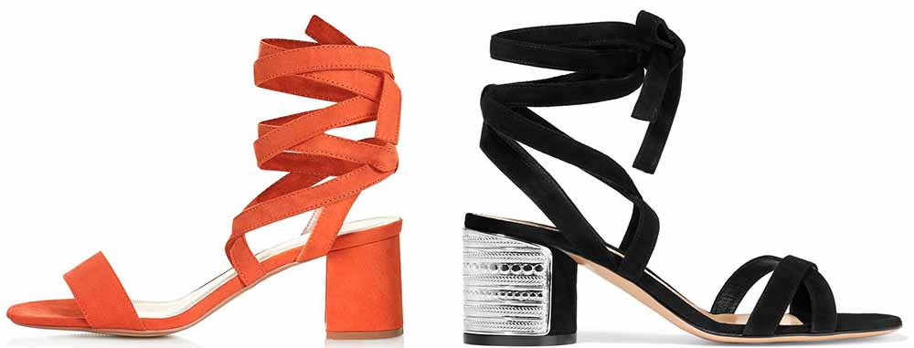 5f40c20f5fb2 TopShop Delilah Tie-up Sandals  48.00 via TopShop Gianvito Rossi  Embellished Suede Sandals  1