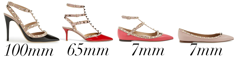 Valentino Heel Height Comparison copy