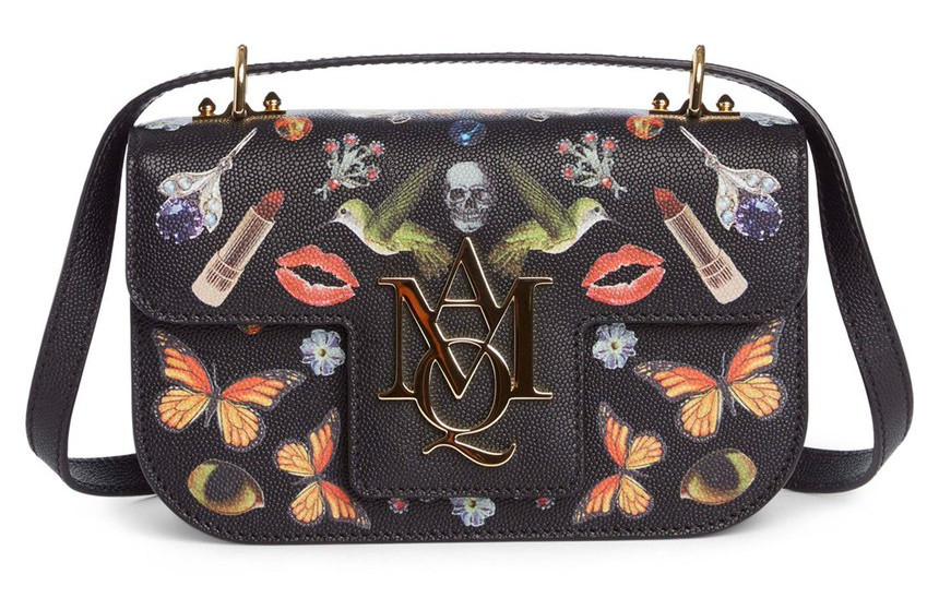 Alexander Mcqueen Small Amq Obsession Calfskin Leather Shoulder Bag