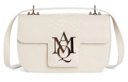 Alexander McQueen Small AMQ Python Embossed Leather Shoulder Bag