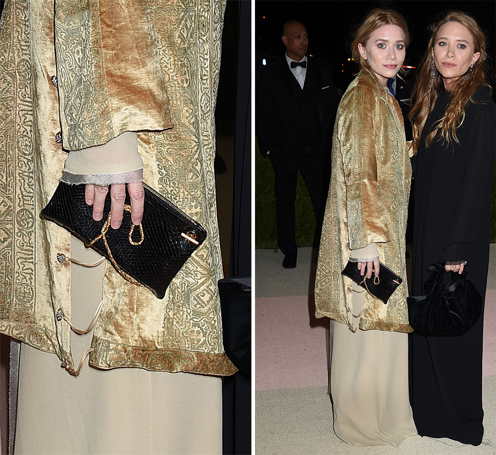 Ashley-Olsen-The-Row-Snakeskin-Clutch