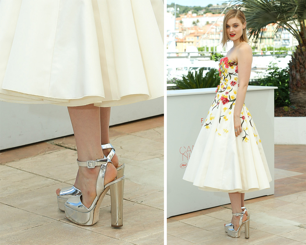 Bella-Heathcote-Giuseppe-Zanotti-Mirrored-Platform-Sandals