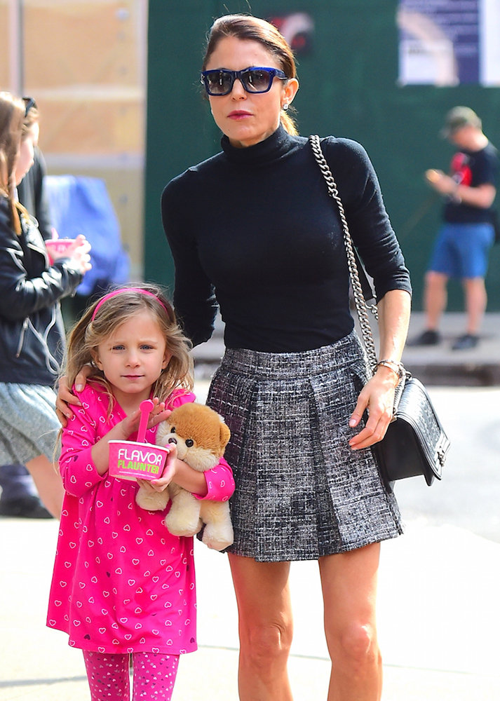 Bethenny Frankel and her daughter, Source: purseblog