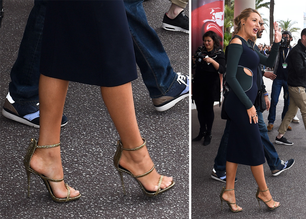 Blake-Lively-Giuseppe-Zanotti-Metallic-Three-Strap-Sandals