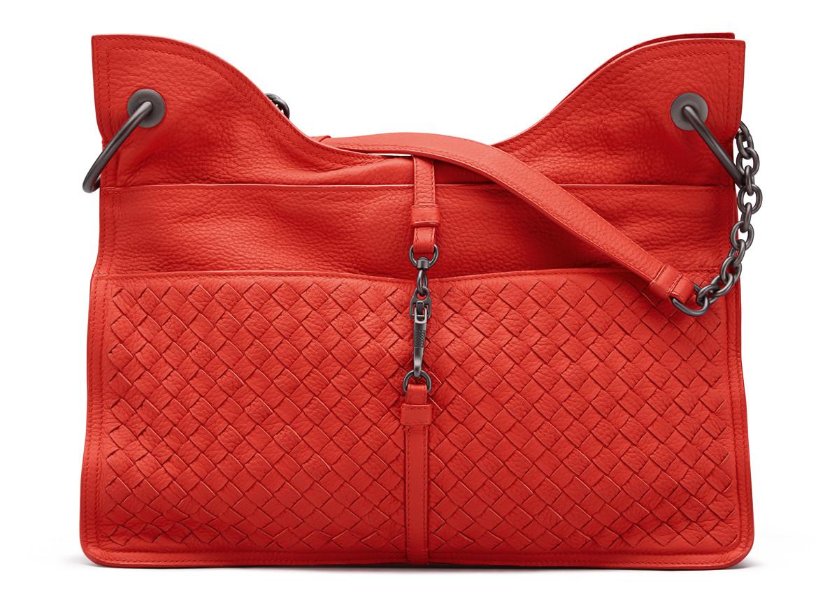 Bottega Veneta Vesuvio Cervo Matte Beverly Handbag