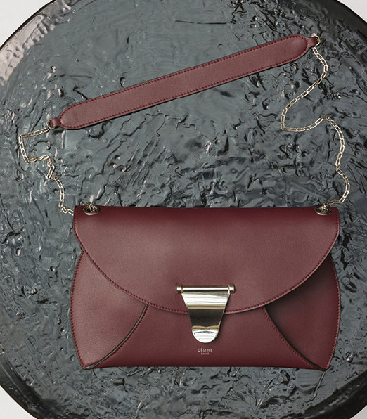 Celine-Chain-Bag-Burgundy-1700