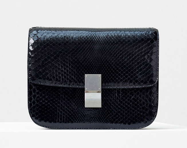 Celine-Classic-Box-Bag-Black-Python-5600