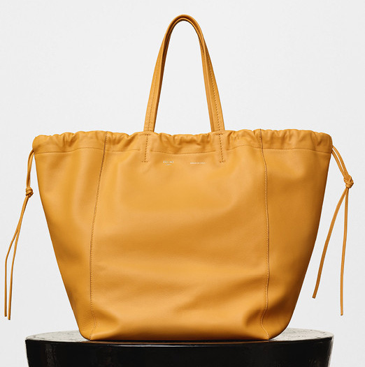 Celine-Large-Coulisse-Shoulder-Bag-Yellow-2350