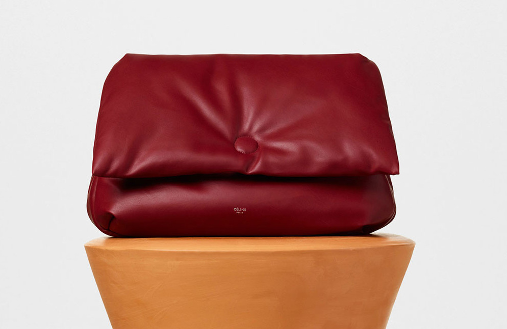 Celine-Medium-Pillow-Shoulder-Bag-Burgundy-3400