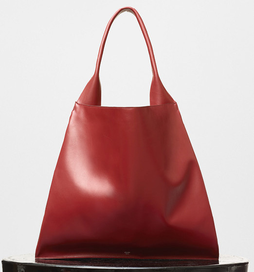 Celine-Medium-Shopper-Shoulder-Bag-Red-2200