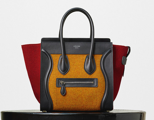 Celine-Micro-Luggage-Tote-Orange-Felt-2550