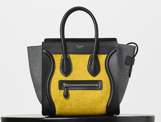 Celine-Micro-Luggage-Tote-Yellow-Felt-2550