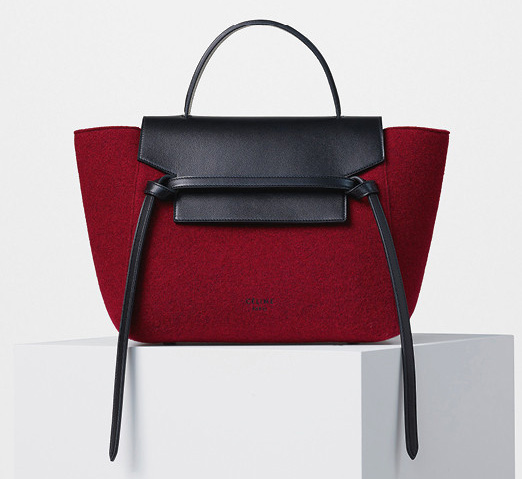 Celine-Mini-Belt-Bag-Red-Felt-2200