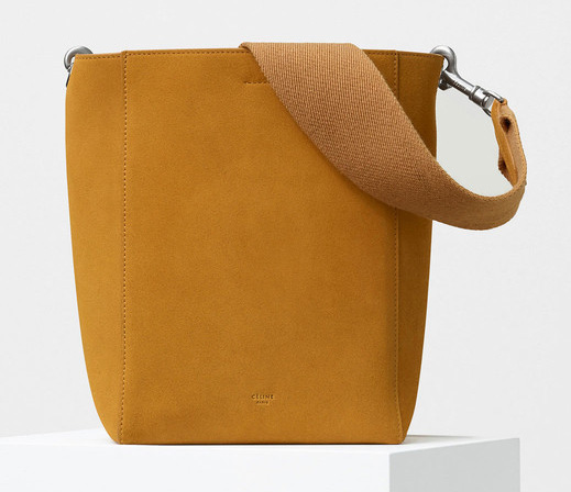 Celine-Small-Sangle-Shoulder-Bag-Suede-Yellow-1850