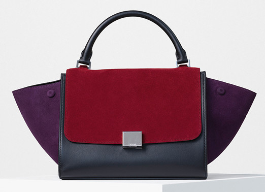Celine-Small-Trapeze-Bag-Burgundy-Suede-2700