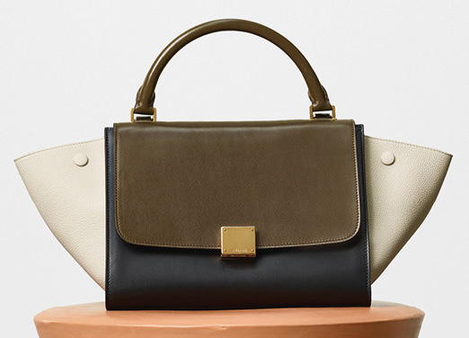 Celine-Small-Trapeze-Bag-Olive-2700
